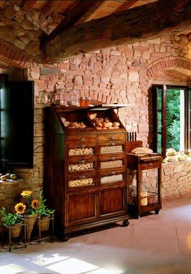 Decoraci n de interiores la cocina con muebles campestres for Disenos de cocinas campestres