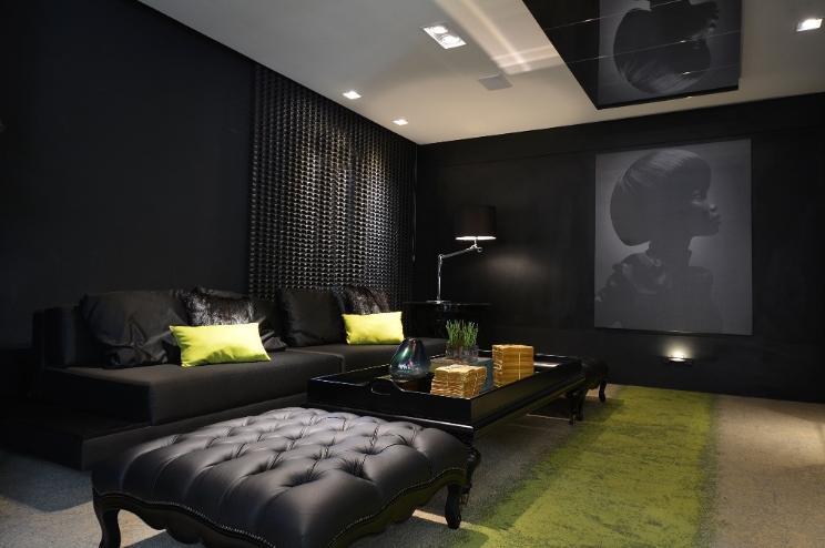 HD wallpapers salas decoradas com marrom e amarelo