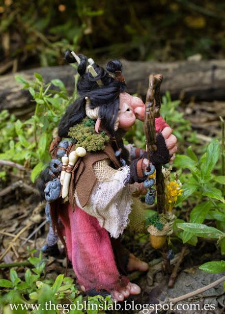 Adopción goblin ooak hecho a mano Meg la curandera