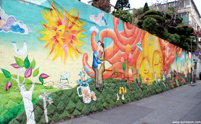 Dibujos en los muros de Daehangno