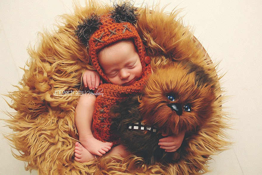 #7 Baby Ewok - 22 Geeky Newborns Who Are Following In Their Parents' Nerdy Footsteps
