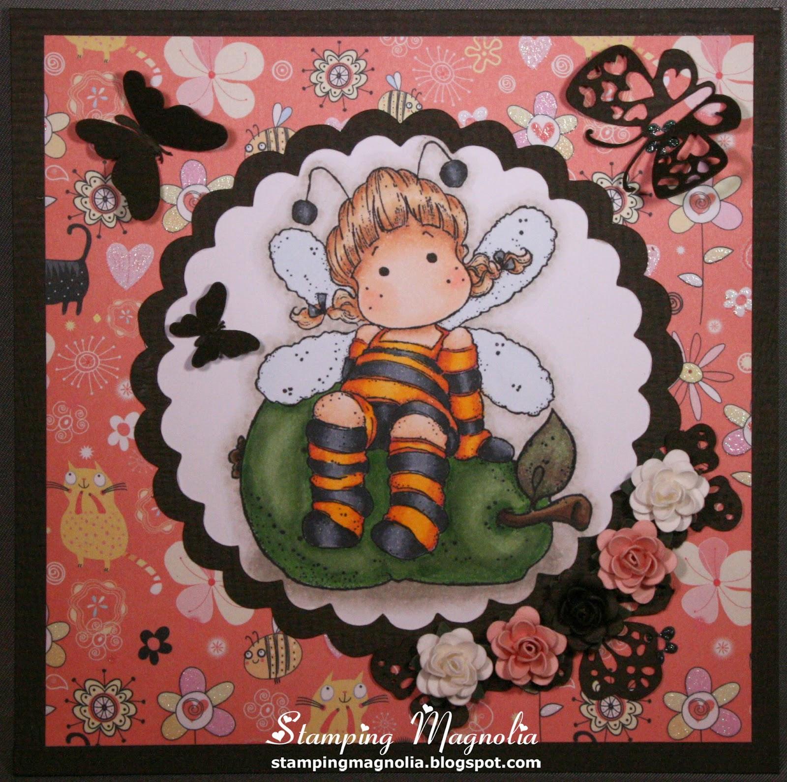 Coloring Magnolia Stamp Summer Memories Collection - Honey Bee Tilda