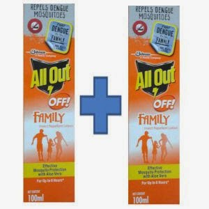 All Out Family Insect Repellent Lotion Set of 2 – Rs. 64 + Rs. 1 cashback