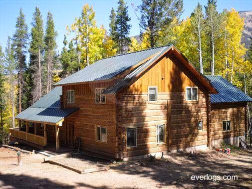 Cabaña de troncos de material moldeado en Estados Unidos