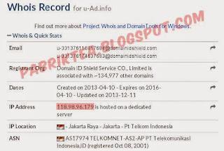 WhoIs u-ad.info telkom speedy