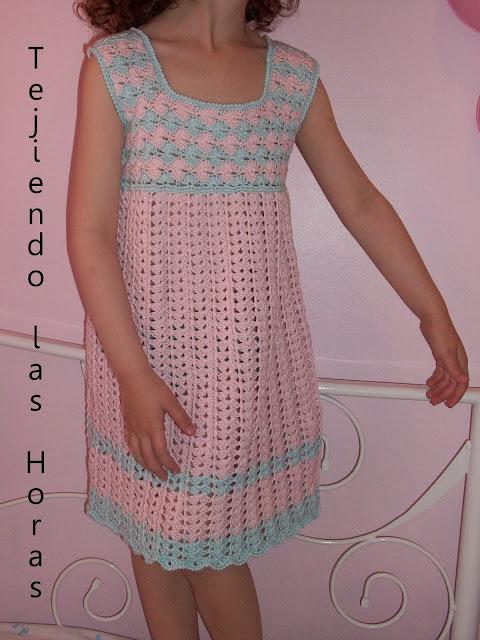 Vestidos tejidos para niñas con graficos - Imagui