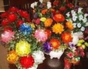 Kerajinan hiasan bunga akrilik
