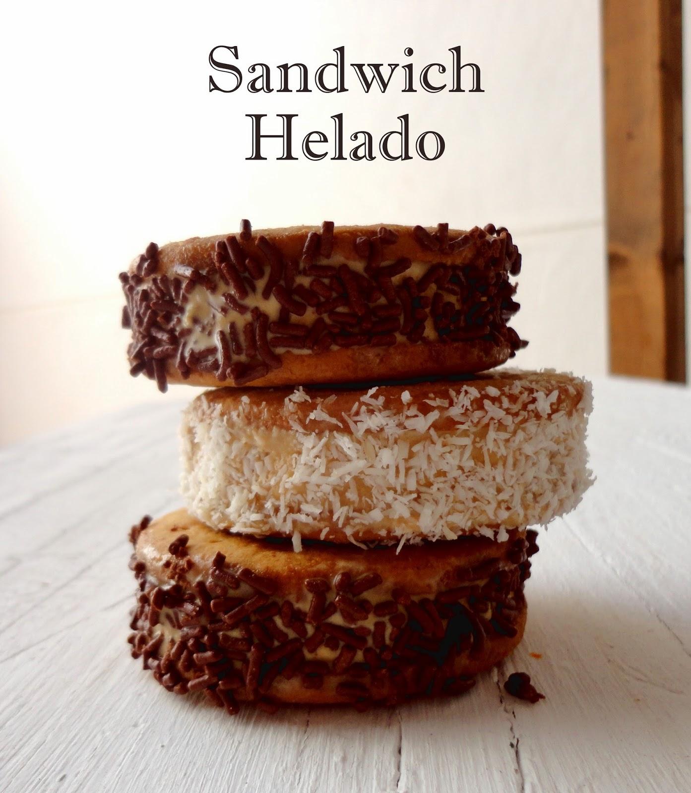 Sandwich Helado Casero