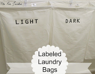 diy labeled laundry bags