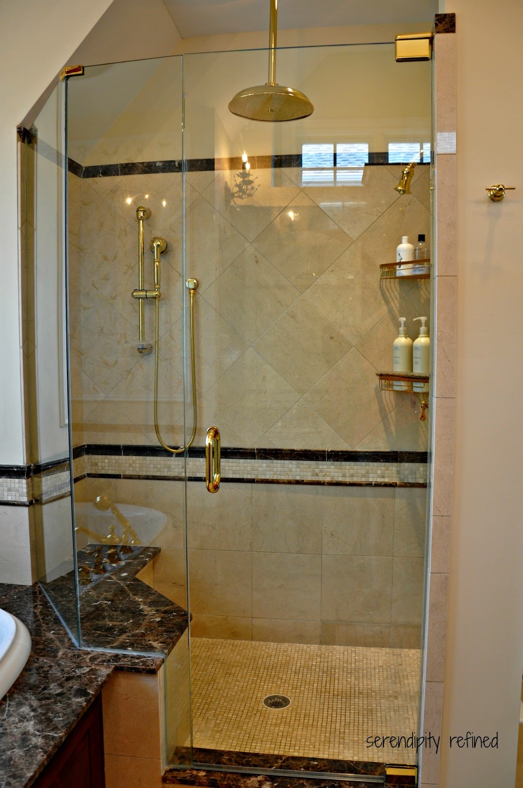 Serendipity refined blog master bathroom reveal Master bathroom tile floor
