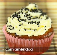 cupcake, amendoa, soja, proteína