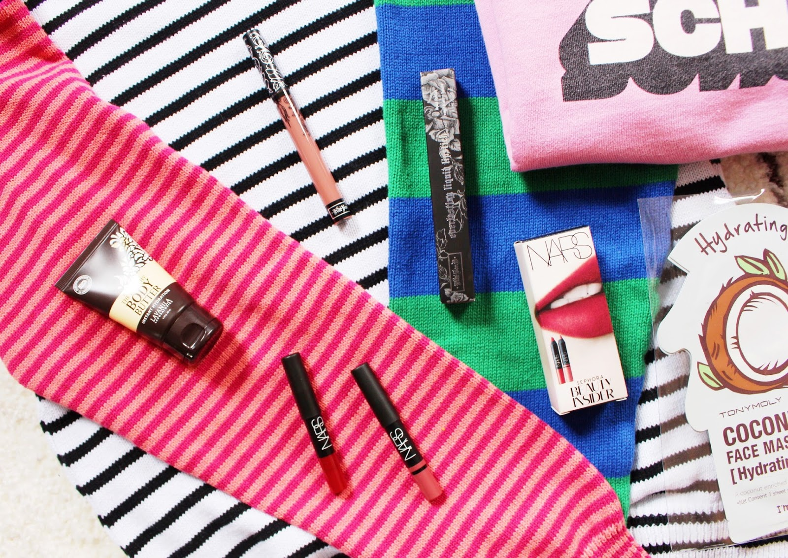 american apparel, marc by marc jacobs, sephora, kat von d, nars, mac