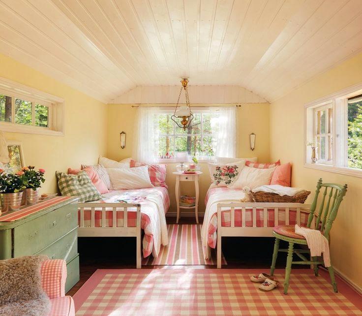 Voy con la casa a cuestas decor habitaciones dos hermanas for Habitaciones de dos camas