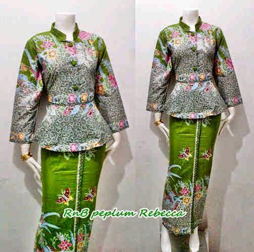 Model Baju Batik Wanita RnB Peplum Rebeca Series - Batik Bagoes Solo