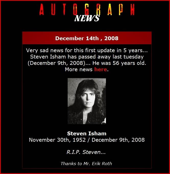 Steve Isham (Autograph)