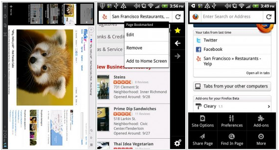 Review Mozila firefox android