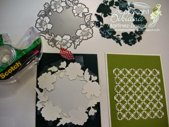 Green wreath for St patrick's inlay technique