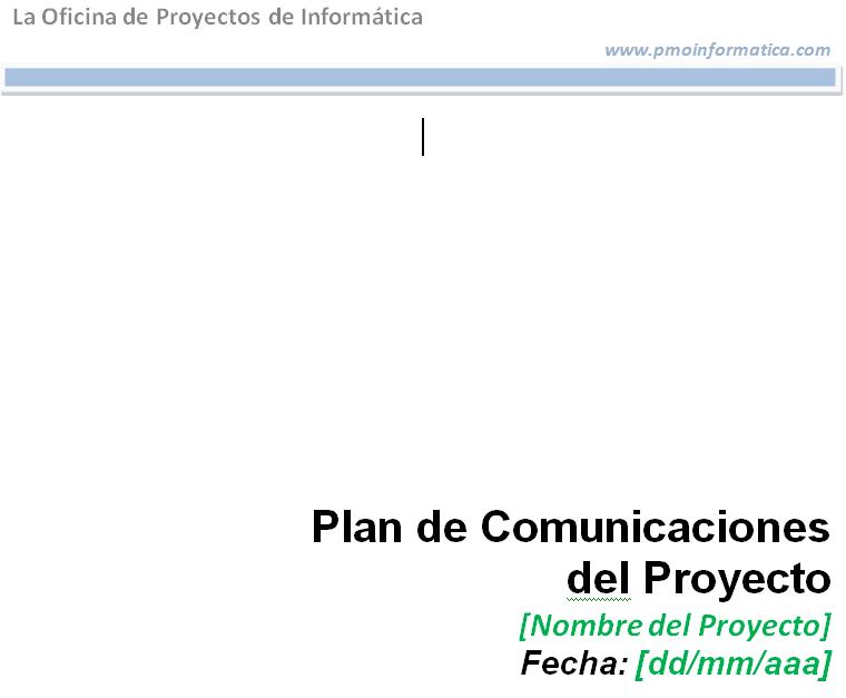 Plantilla del plan de gestión de comunicaciones del proyecto - La ...