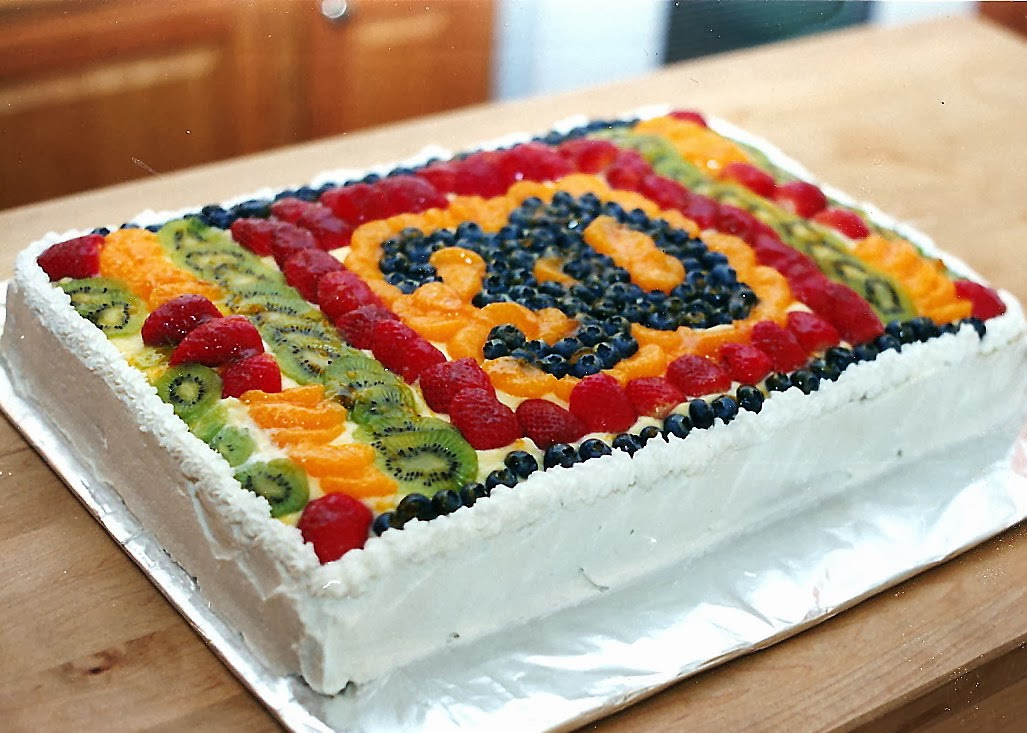 Cake With Fruits On Top : Fruit-Bottom Cake Recipe   Dishmaps