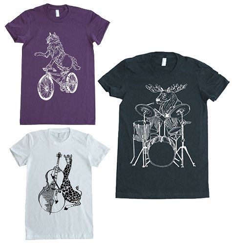 Hand Printed T-shirts from Ina Printing