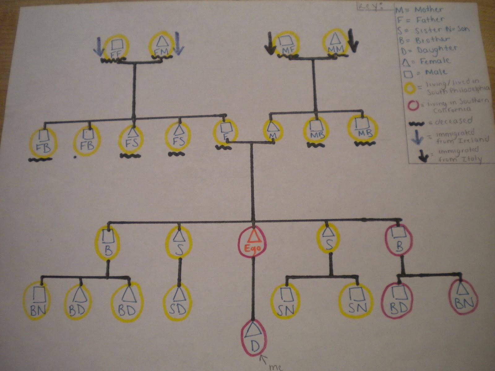 la vita bella Kinship chart – Kinship Diagram Template