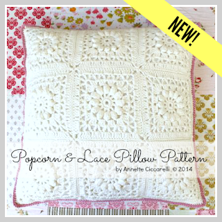 Popcorn & Lace Pillow Pattern