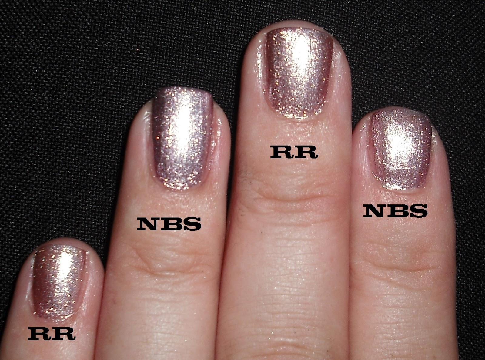 Wendy\'s Delights: OPI Rosy Reflection vs Nails Inc New Bond Street