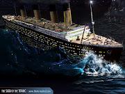 Titanic em sua partida. Em 14 de abril, exatamente as 23:40, .