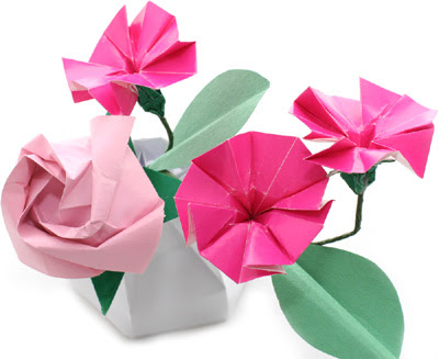 origami flowers picture