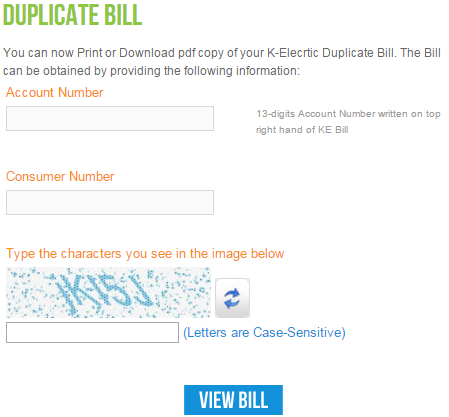 print your duplicate bill in k electric vsolution