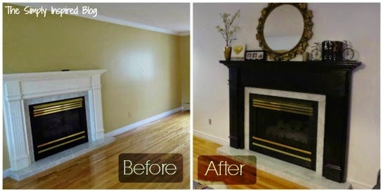 The Simply Inspired Blog: Tutorial: How to Paint a Fireplace Mantle
