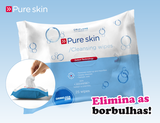 Toalhetes de Limpeza Pure Skin da Oriflame