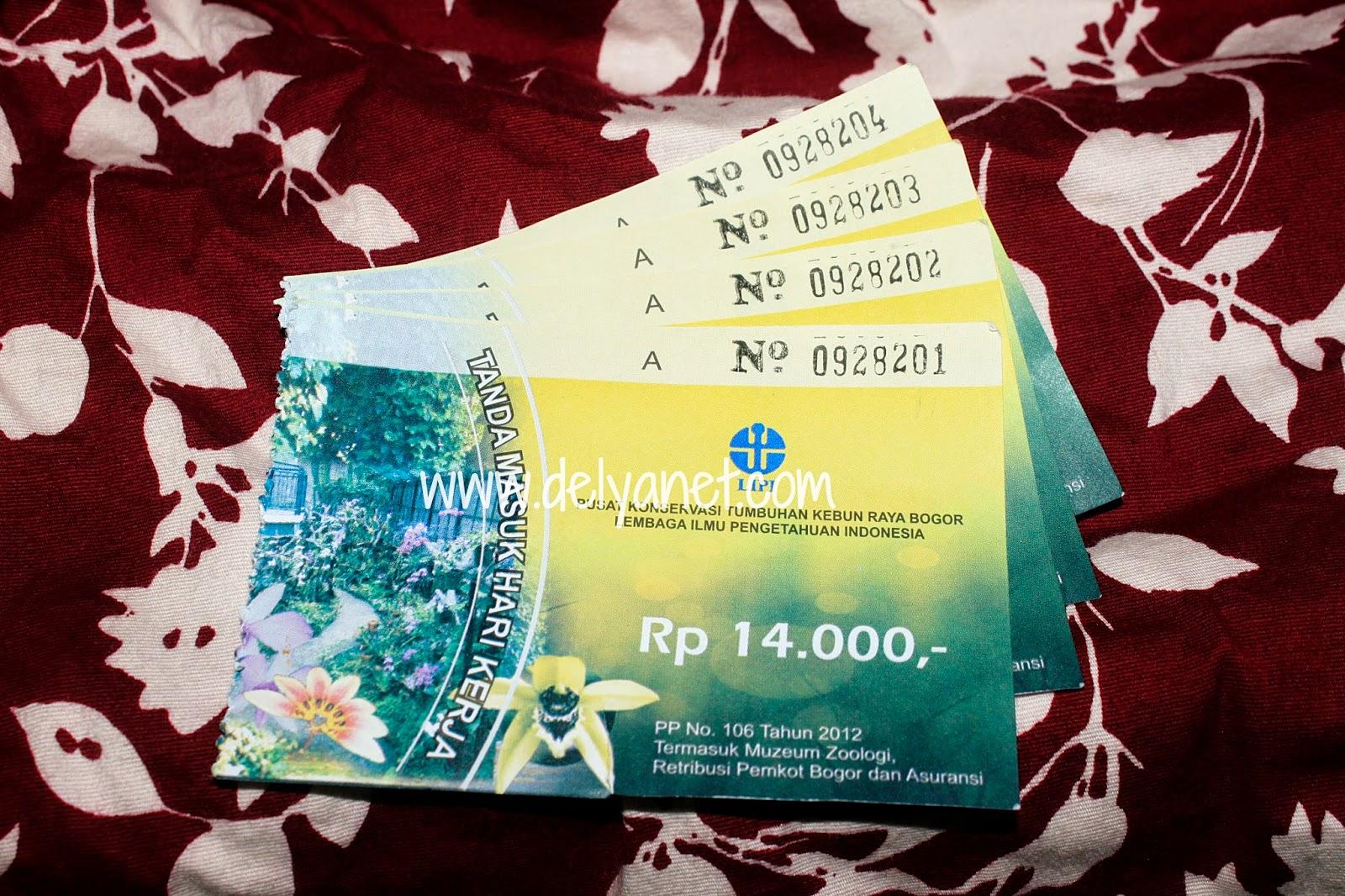 Tiket masuk KRB