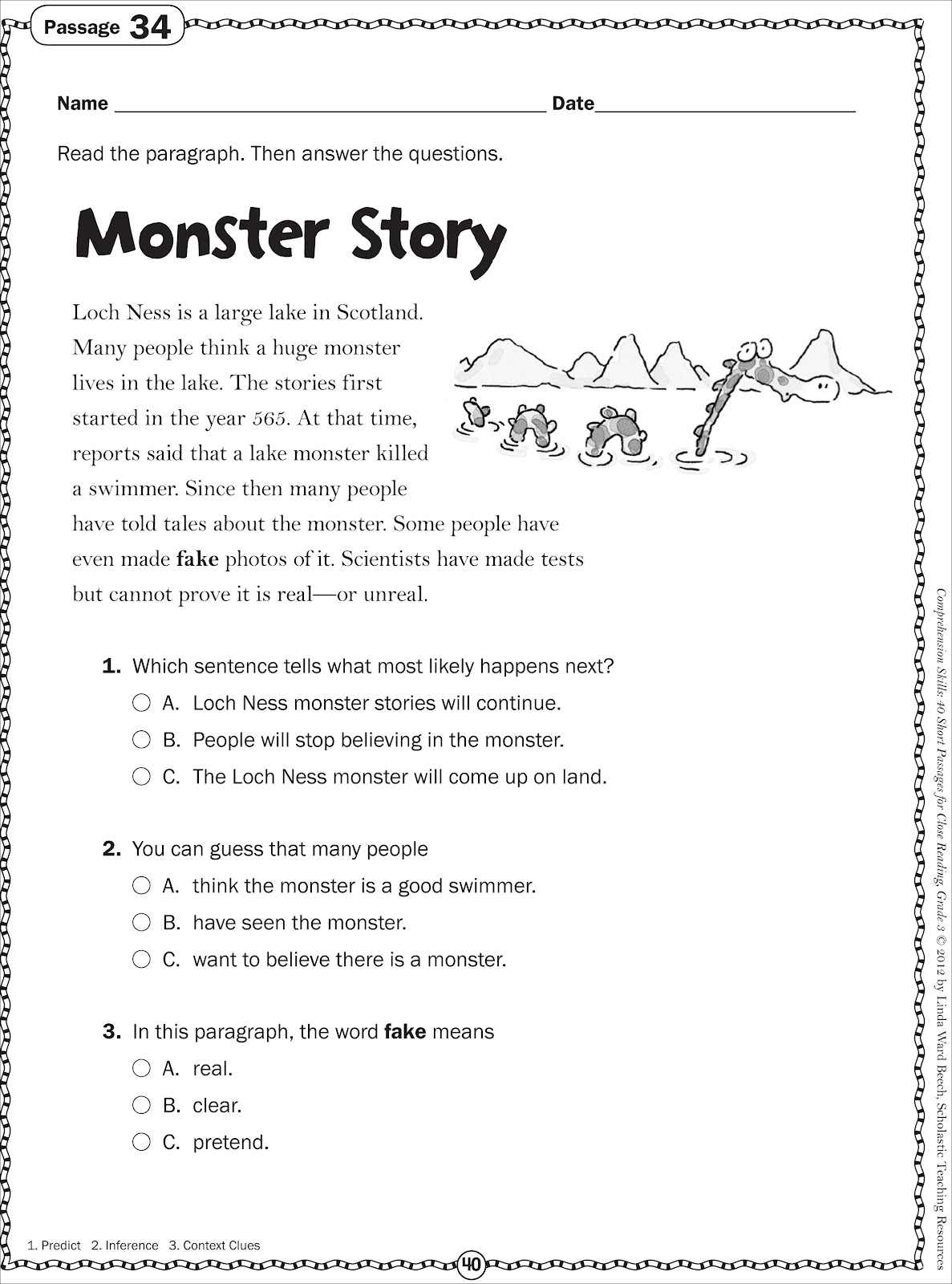 Adventures in Third Grade Monster Week – Frankenstein Worksheets