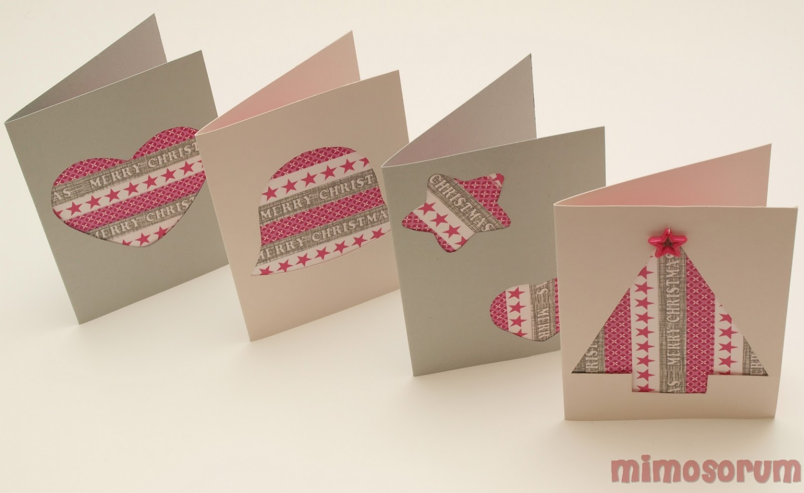 MIMOSORUM Tarjetas de Navidad con washi tape Christmas postcards