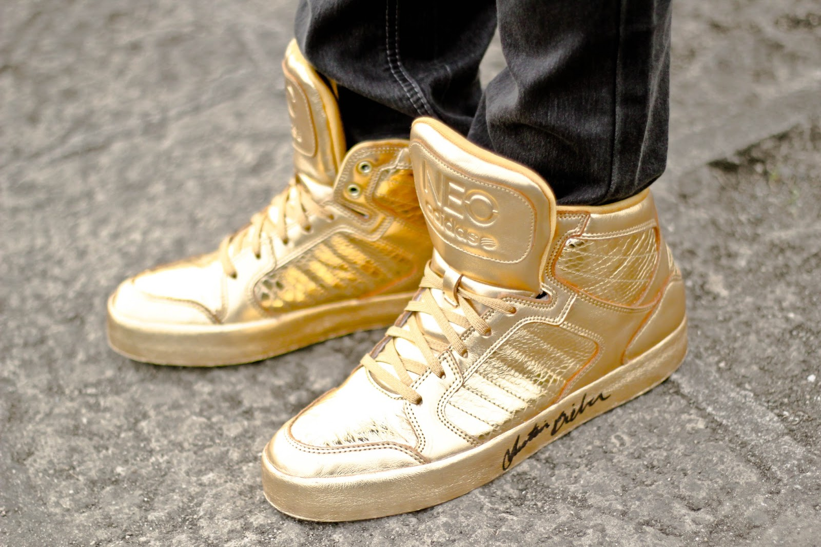 Adidas Shoes Golden