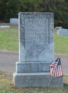 Gravestone of Lindsey B. Clark