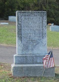 Gravestone of Lindsey B. Clark