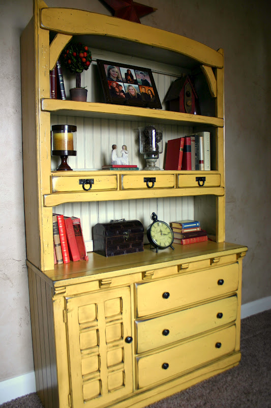 Doubletake decor another mustard china hutch for Hutch decor
