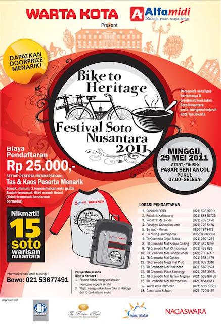 Poster Warta Kota Bike to Heritage