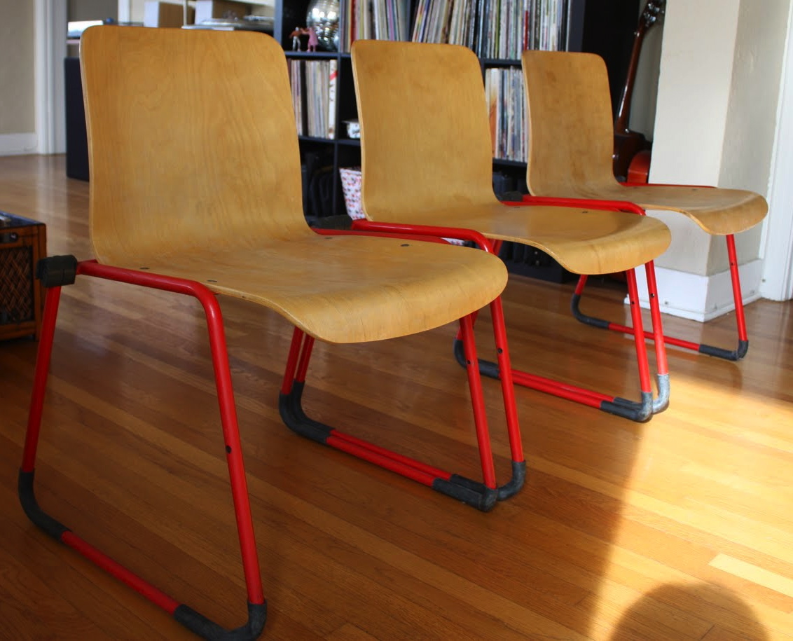 20.12: 3 Kinetic plywood chairs