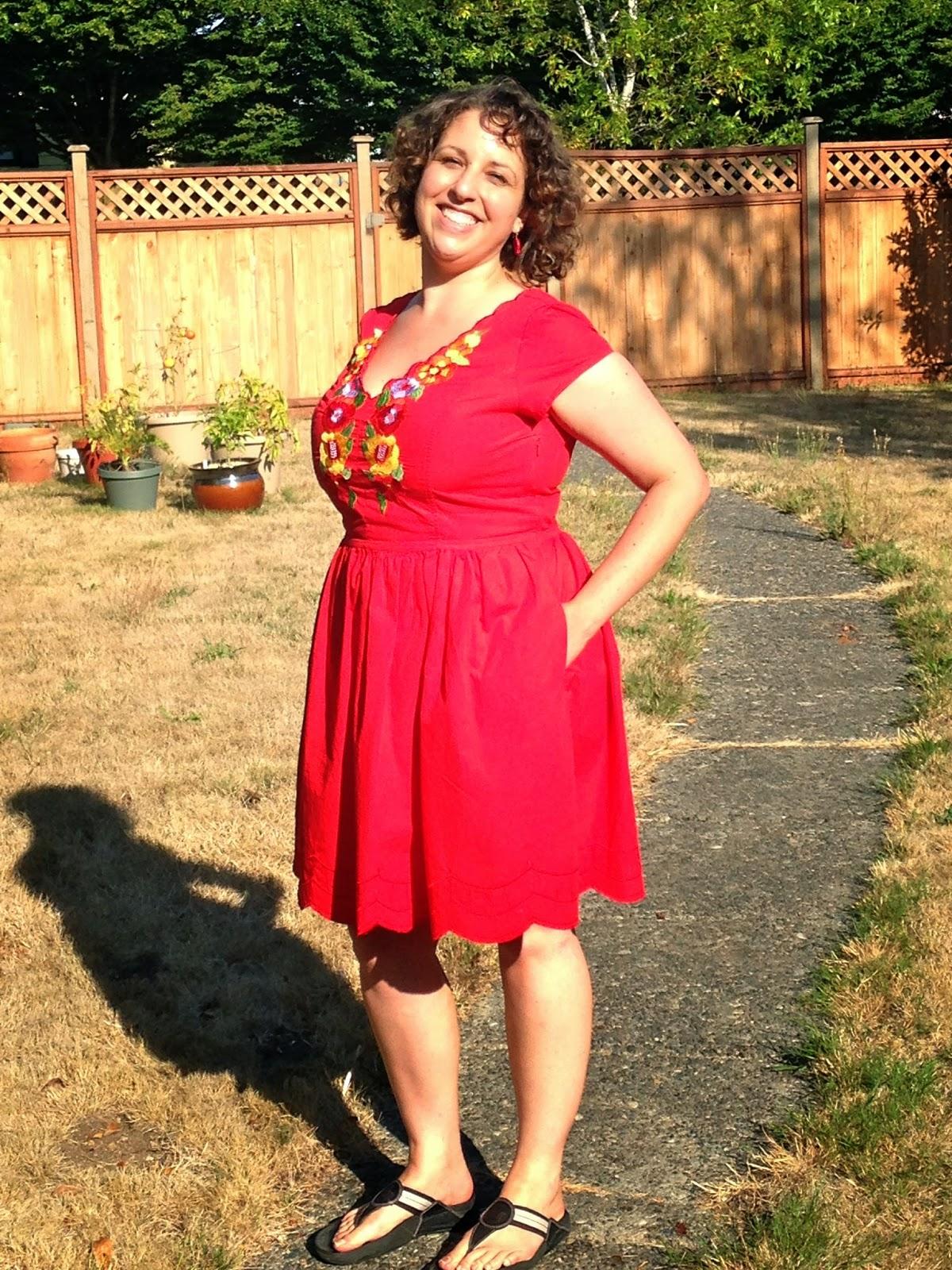Rot und Gold Wedding Dress
