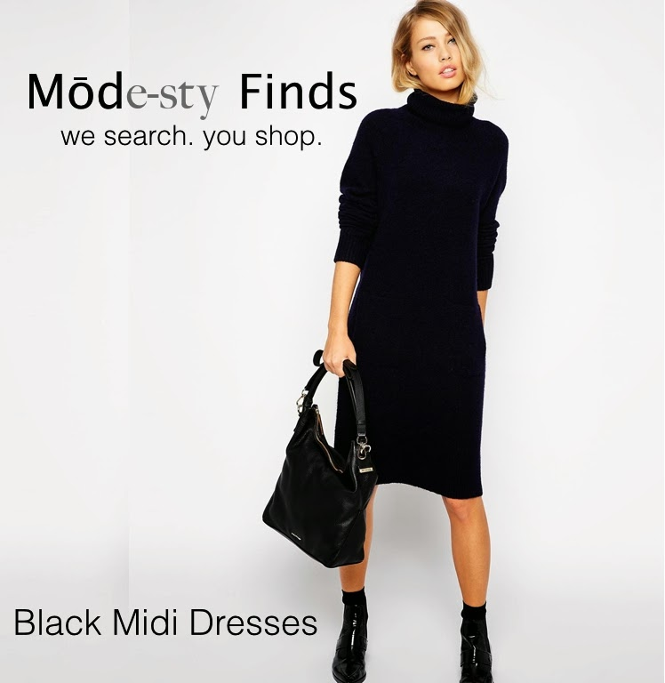 Modest black midi below the knee dresses | Mode-sty #nolayering tznius tzniut muslim islamic pentecostal mormon lds evangelical christian apostolic mission clothes Jerusalem trip hijab fashion modest