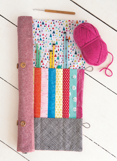 Patchwork Knitting Bag Pattern : myBearpaw: Patchwork knitting bag and needle roll