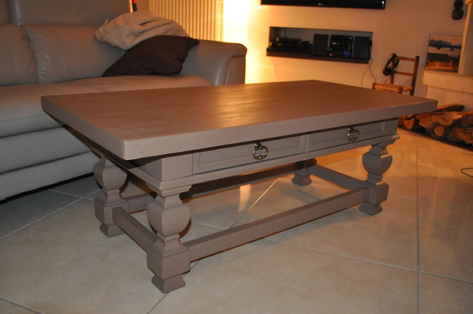 Customiser une table basse rustique - Customiser une table basse en bois ...