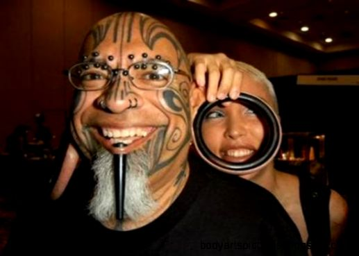 Weird Body Piercing… Art Or Overexageration  OddStrange