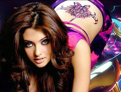 Riya Sen In Jeans With A Tattoo On Her Back
