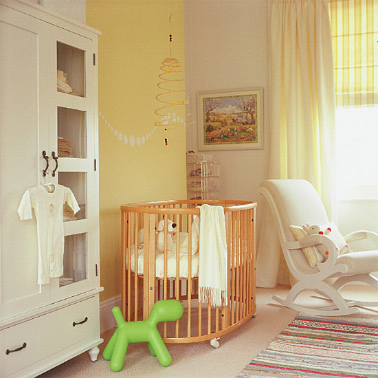 New home interior design nursery decorating ideas - Dormitorio para bebe ...