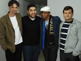 Ao lado do Diego Castro, Adal Silvestre e Rodolfo Pereira