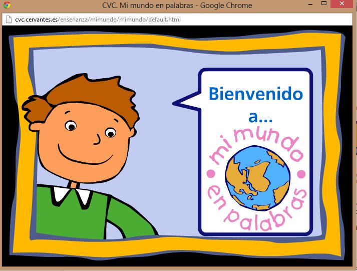 Mi Mundo En Palabras Cvc Centro Virtual Cervantes Mi Mundo